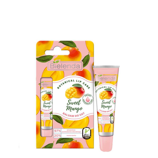 bielenda botanical lip care sweet mango pink lip balm 10g