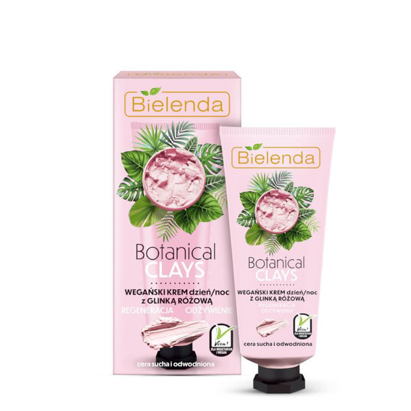 bielenda botanical clais vegan face cream regeneration nourishing pink clai 50ml