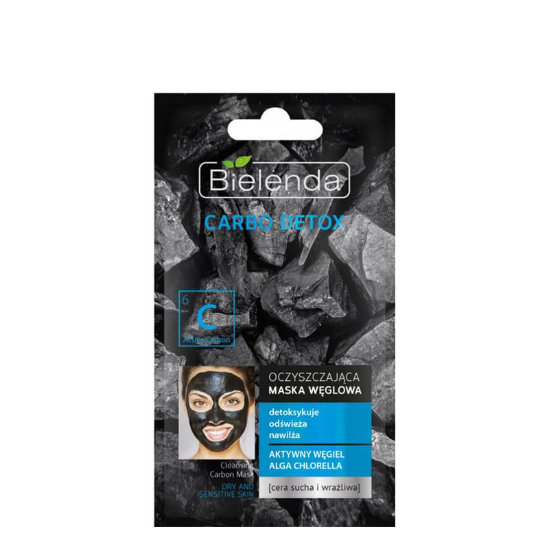 bielenda carbo detox carbon face mask for dry and sensitive skin
