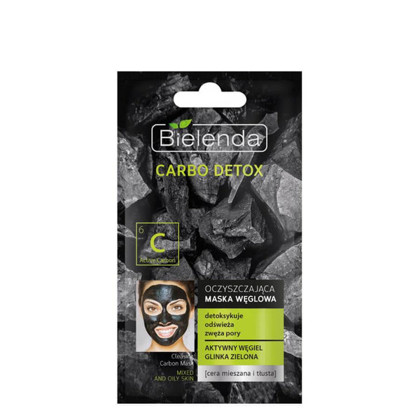 bielenda carbo carbon detox face mask mixed oily skin