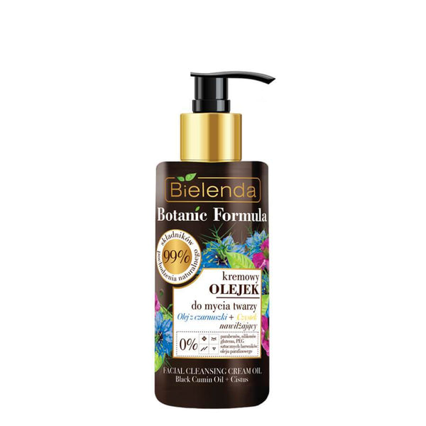 bielenda botanic formula natural ingredients face wash oil