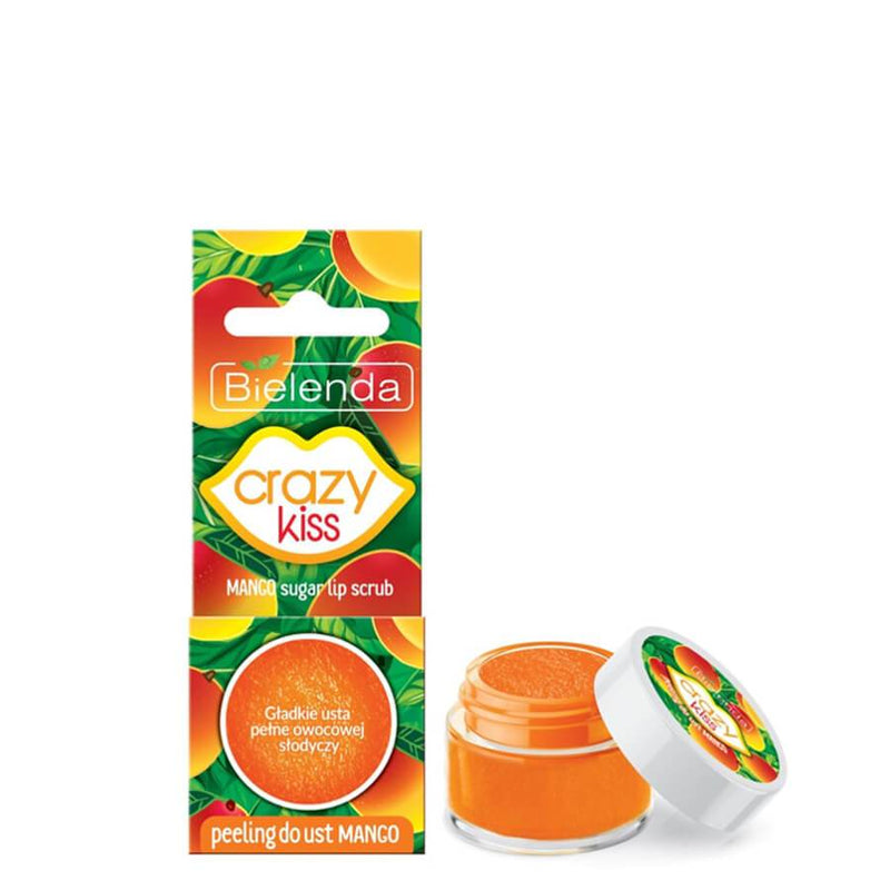 sugar lip scrub mango crazy kiss bielenda 15g