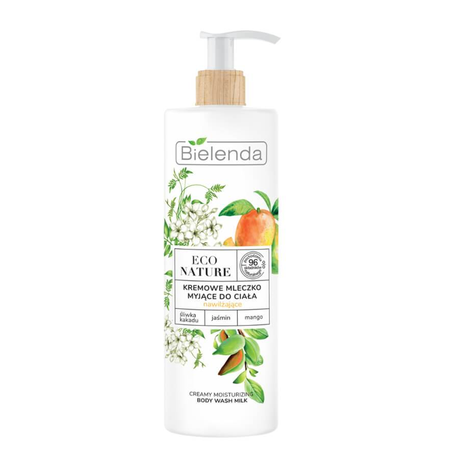 bielenda body wash milk moisturizing creamy milk eco nature