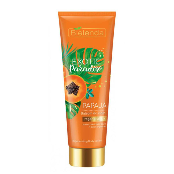 papaya regeneration body lotion body balm bielenda exotic paradise