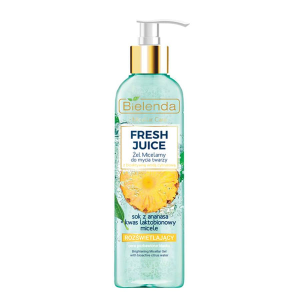 bielenda fresh juice micellar face was gel pineapple 190g