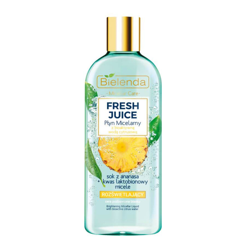 fresh juice bielenda micellar liquid makeup remover 500ml pineapple