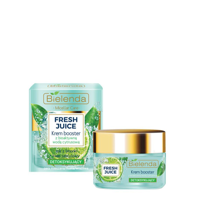 Bielenda Fresh Juice Lime Detoxifying Cream Booster citrus lemon matt