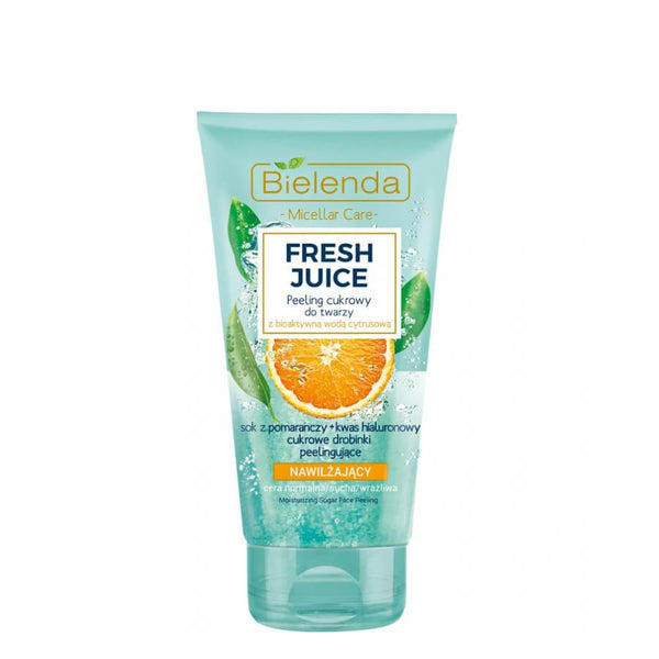 bielenda fresh juice face scrub moisturizing orange 150g