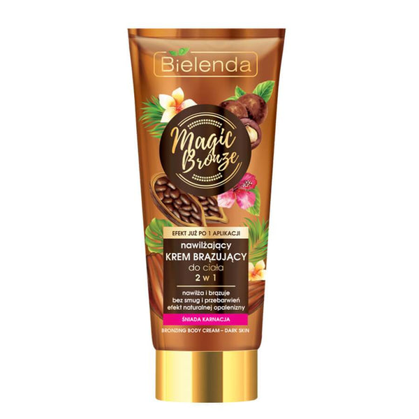 magic bronze dark skin body lotion self tan bielenda