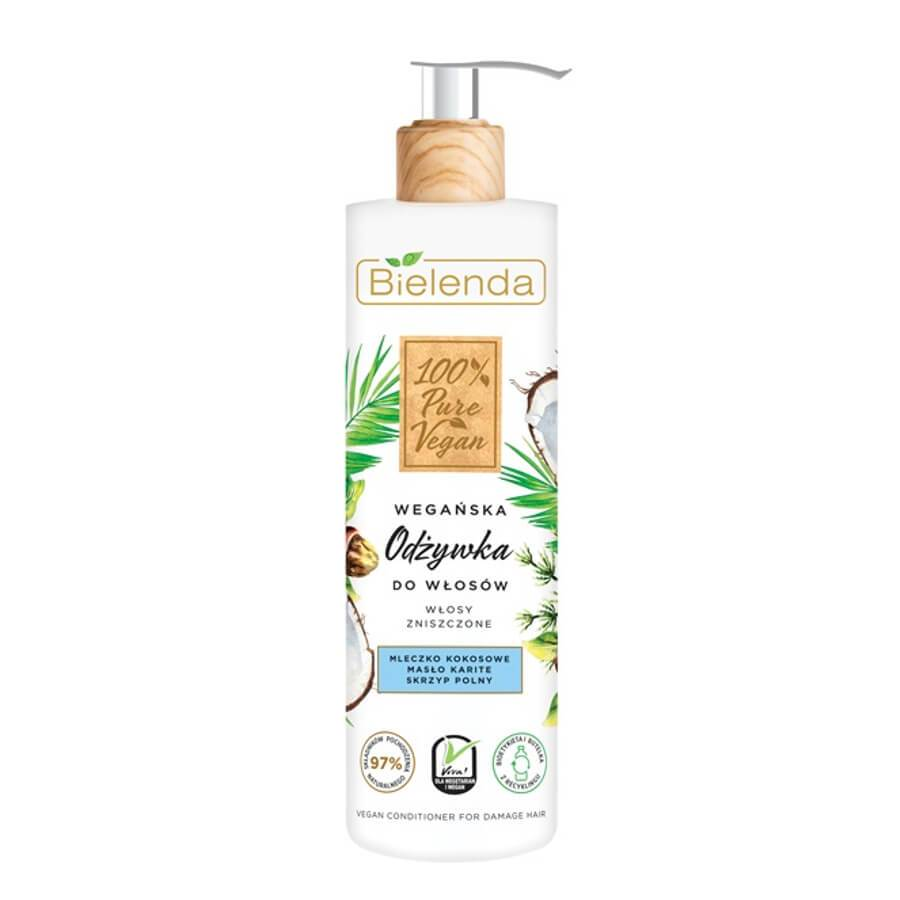 bielenda hair conditioner pure vegan for fry and damaged hair 240ml