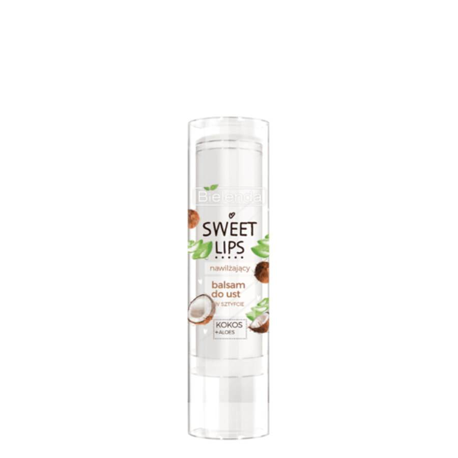 bielenda sweet lips coconut and aloe lip balm moisturizing