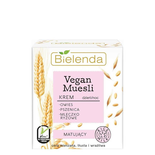 bielenda vegan muesli face cream mattifying 50ml
