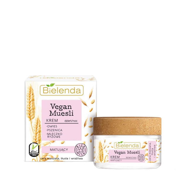 bielenda vegan muesli face cream mattifying