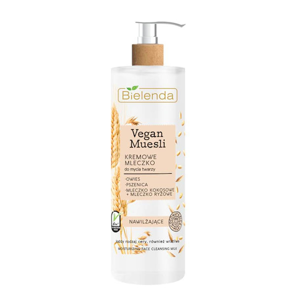 bielenda vegan muesli face cleansing milk for all skin types 175g