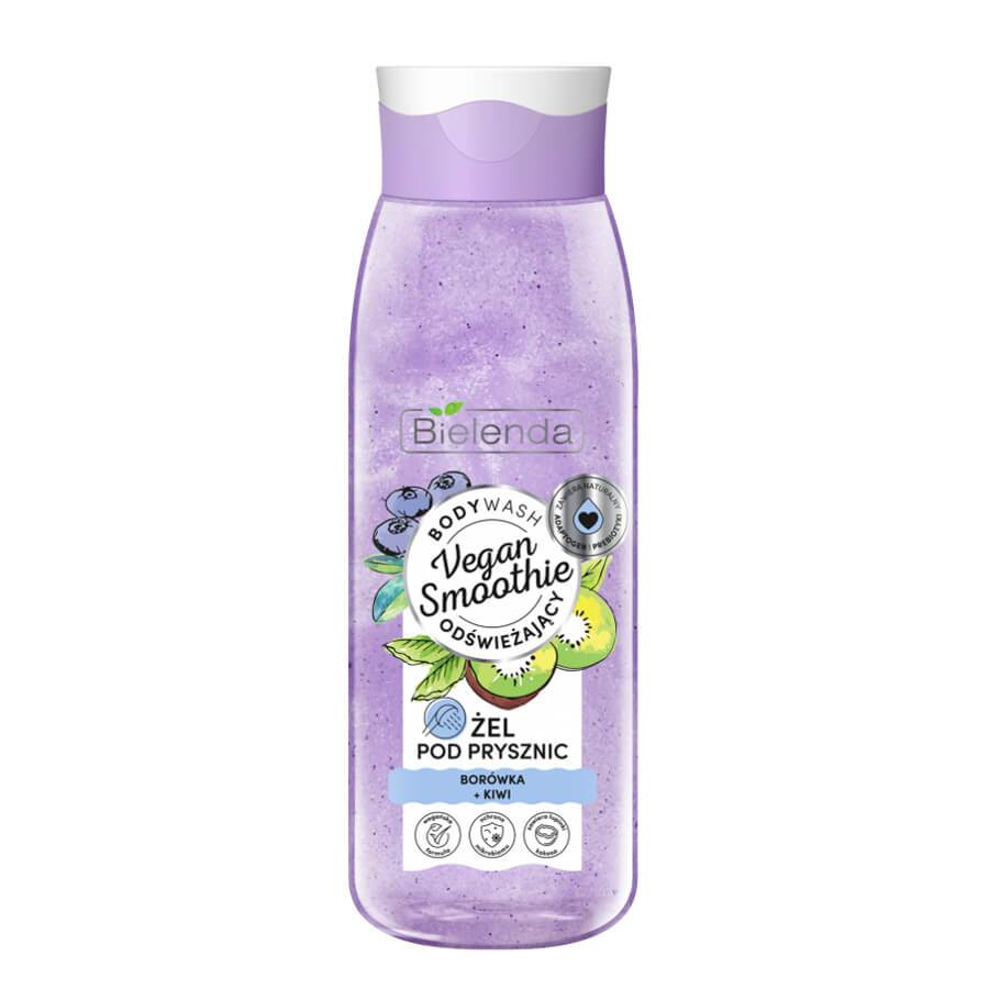 bielenda vege smoothie shower gel bluebrry and kiwi 400ml