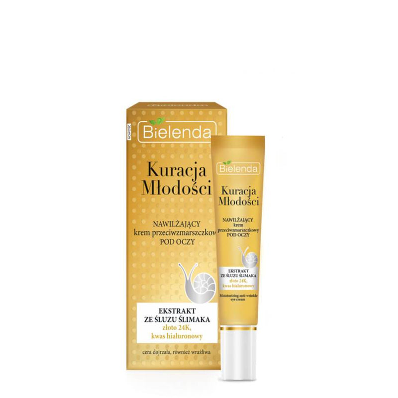 bielenda anti wrinkle and moisturizing eye cream youth therapy 15ml