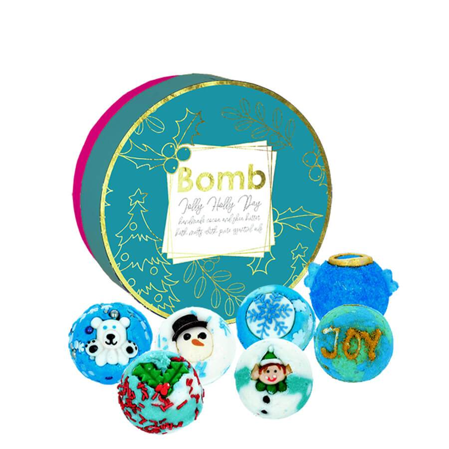 bomb cosmetics creamer set jolly holly day