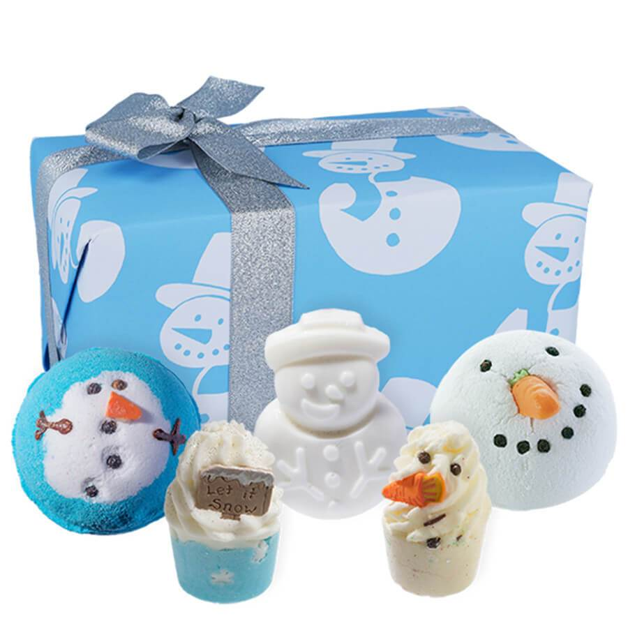 bomb cosmetics mr frosty gift set christmas bath pack