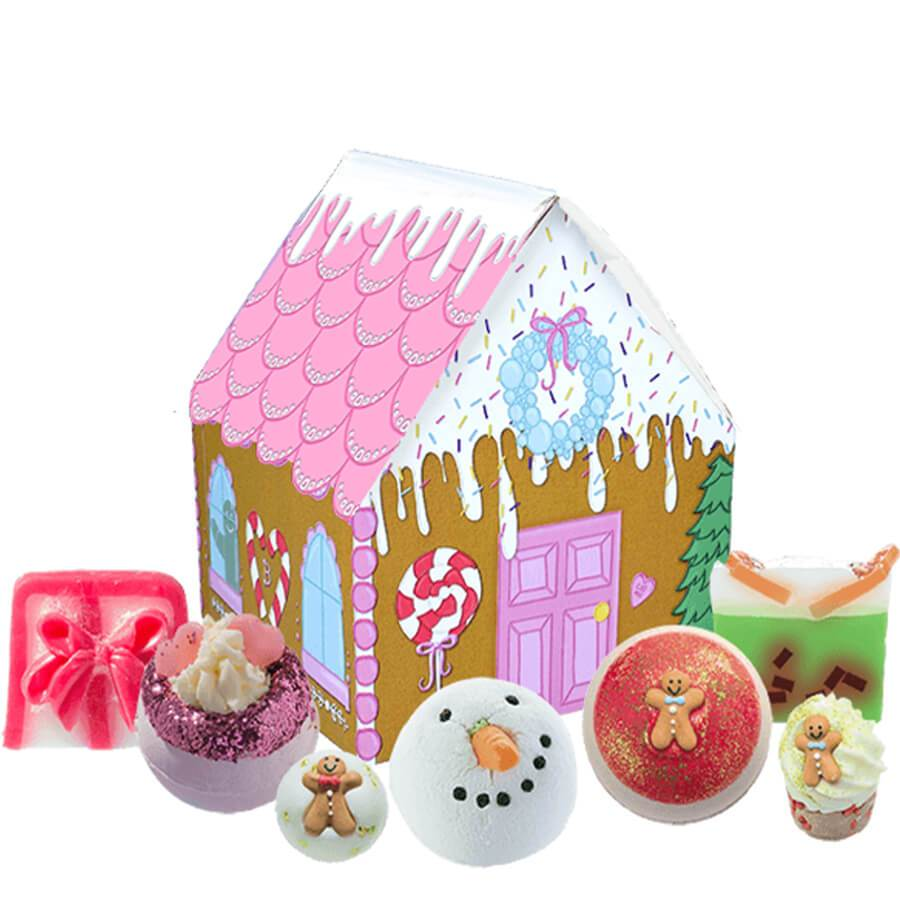 bomb cosmetics christmas house gidt set sugar and spice