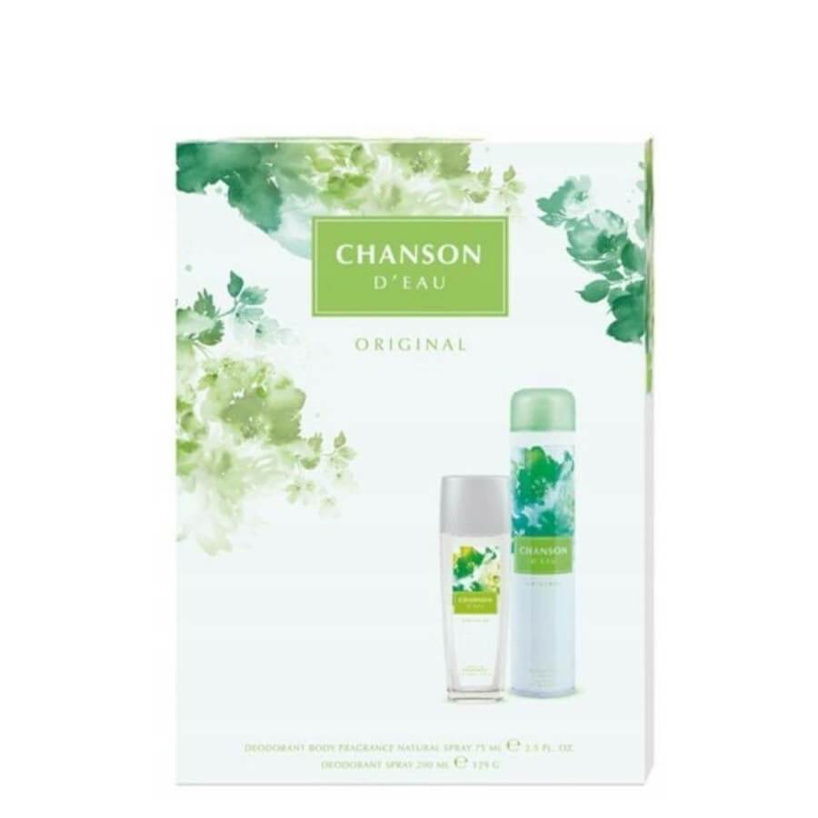 Coty Chanson Gift Set Deo Glass 75ml & Deo Spray 200ml