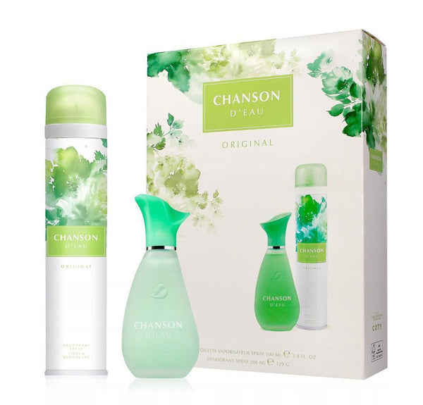 Coty Chanson D'Eau set Original Eau de Toilette Spray 100ml + 200ml deodorant spray