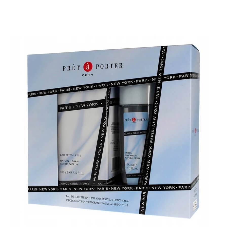Coty Pret a Porter Gift Set EDT 100ml & Deo Glass 75ml