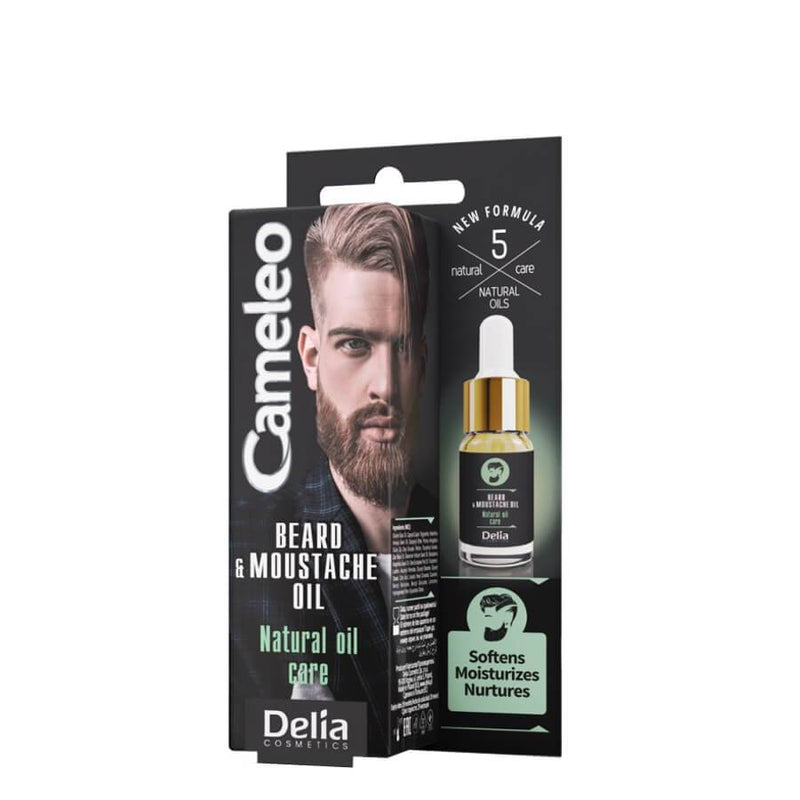 delia cameleo men beard and moustache natural oil