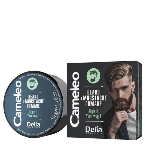 delia men pomade for moustache and beard