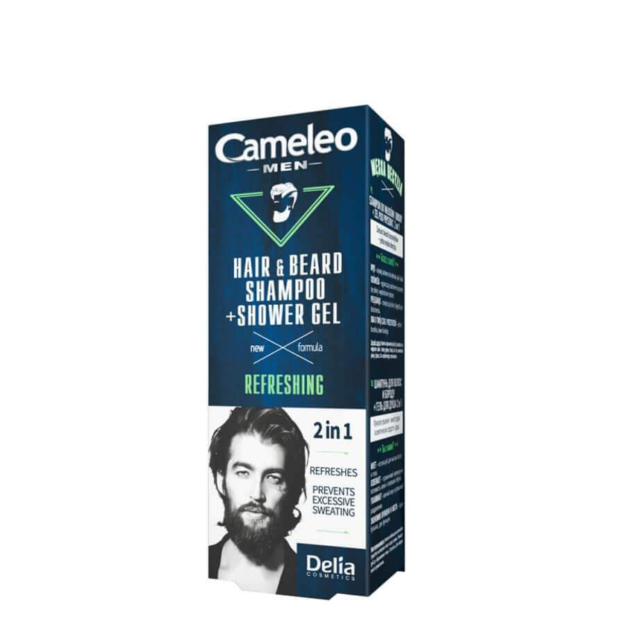 delia cameleo hair and beard shampoo shower gel 150ml