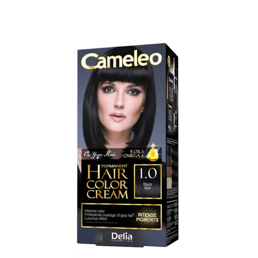 delia cameleo omega hair dye color cream 1.0 black