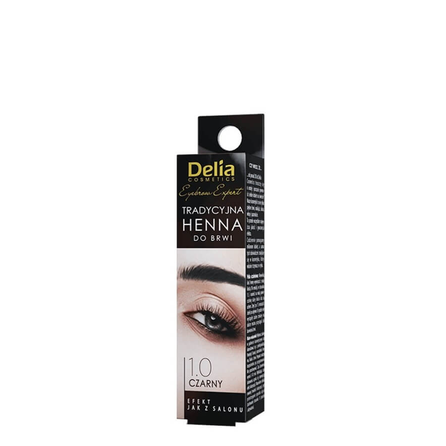 Delia Traditional Henna Eyebrow Colour black
