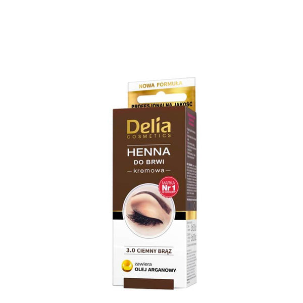 Delia Henna Colour Cream for Eyebrows & Lashes with Argan Oil brown