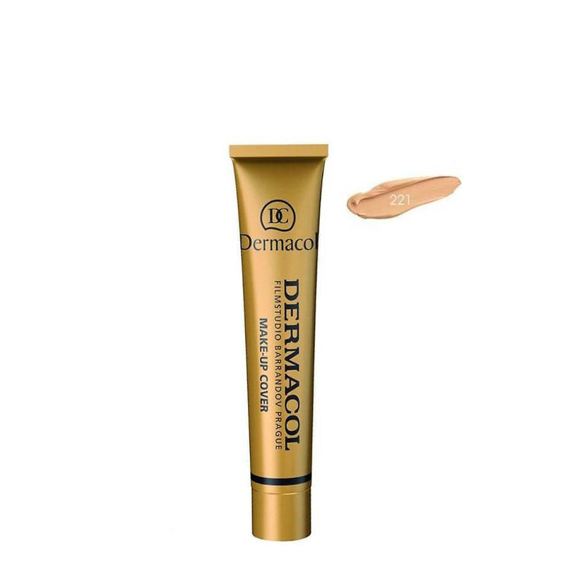 dermacol high covering foundation shade 221