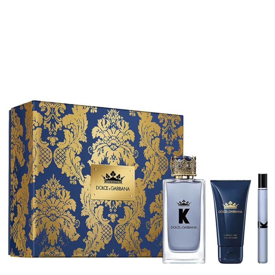 Dolce & Gabbana K Gift Set EDT 100ml + Mini EDT 10ml & Shower Gel 50ml