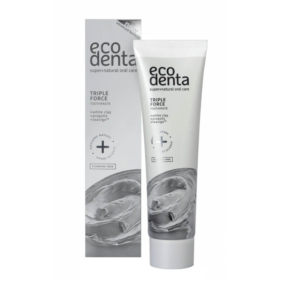 Ecodenta Triple Force White Clay Toothpaste 100ml