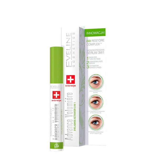 eveline cosmetics 3in1 lash serum treatment