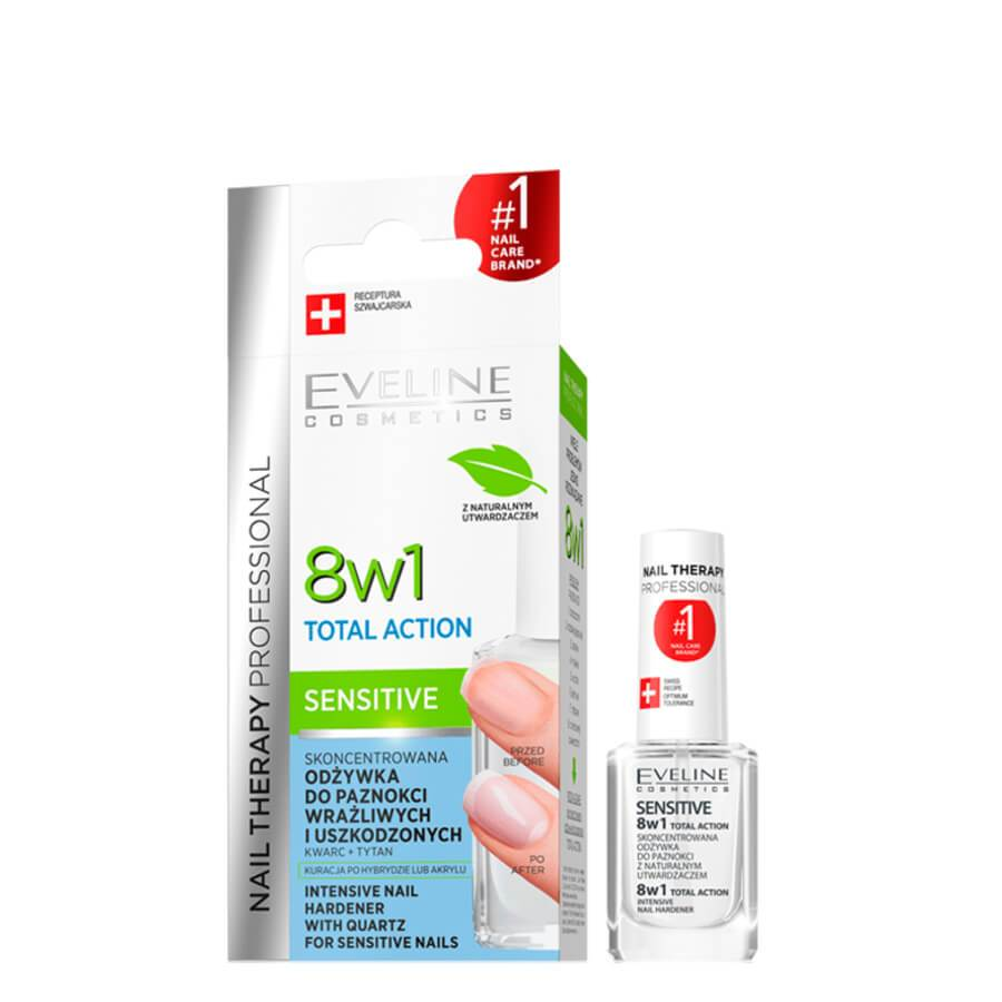 Eveline 8in1 best conditioner Formaldehyde free sensitive nail after manicure revive rescue