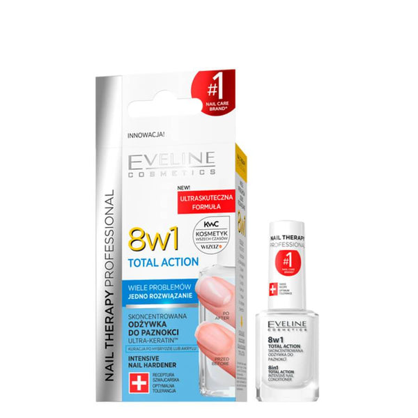 Eveline total action 8in1 famous conditioner popular formalehyde free formula brittle nails results