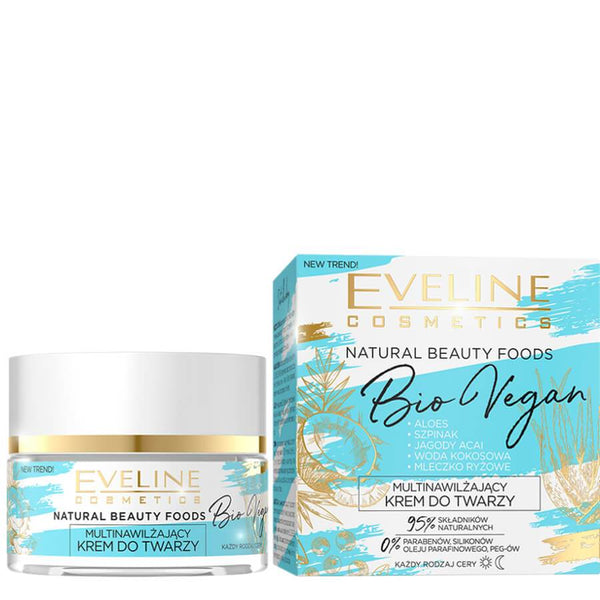 Eveline Natural Beauty Bio Vegan Moisturising Face Cream cruelty free