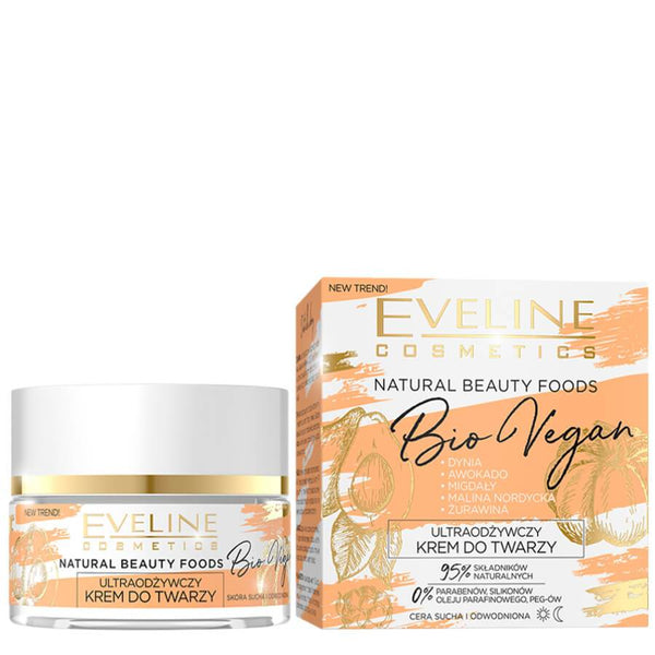 Eveline Natural Beauty Bio Vegan Nourishing Face Cream moisturiser super foods