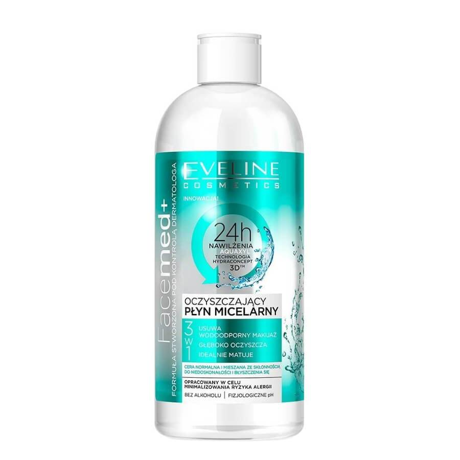 eveline cosmetics purifying micellar luquid face med 400ml normal and mixed skin