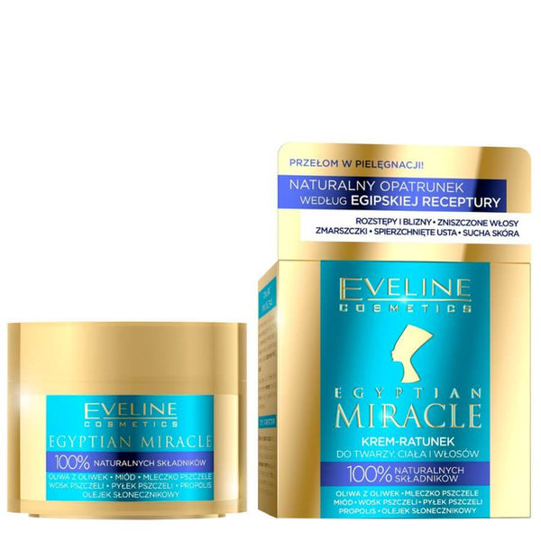 Eveline Egyptian Miracle Face Body Hair Rescue Cream bee honey propolis beewax miracle