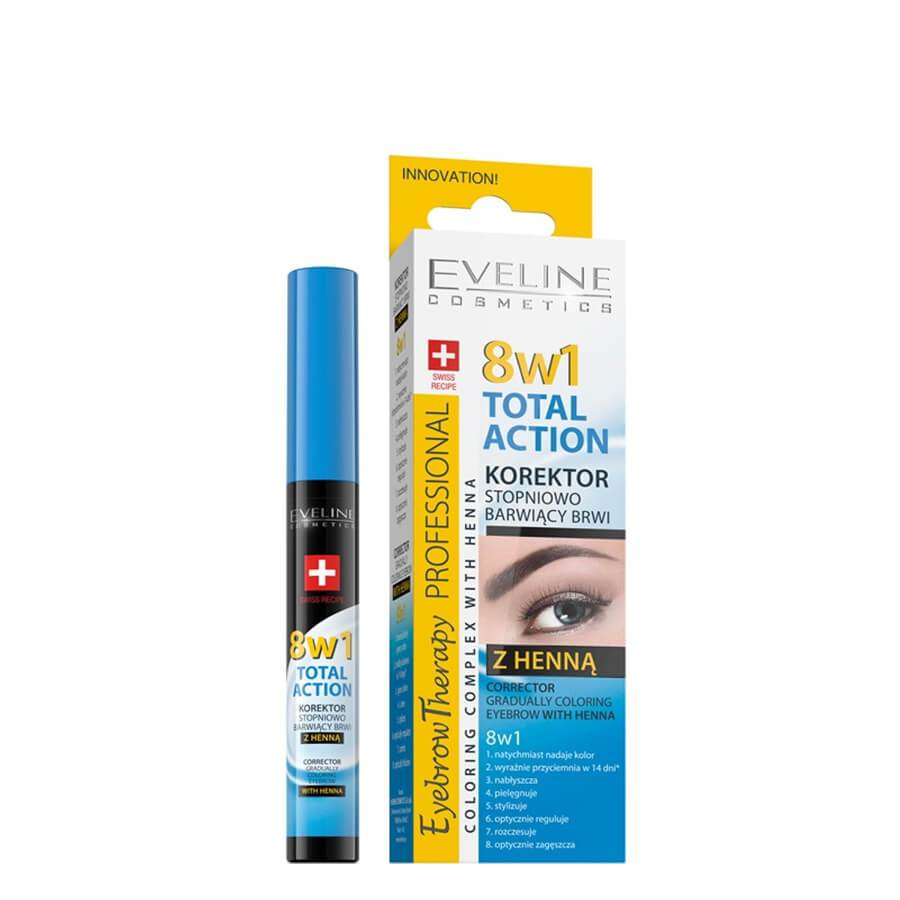Eveline 8in1 Eyebrow Corrector Gradually Coloring with Henna