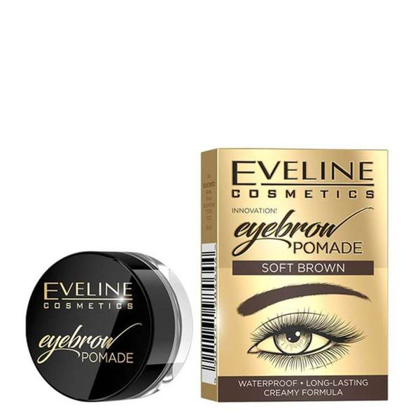 Eveline Waterproof Creamy Eyebrow Pomade with box soft brown