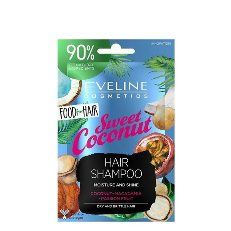 eveline cosmetics sweet coconut hair shampoo food for hair