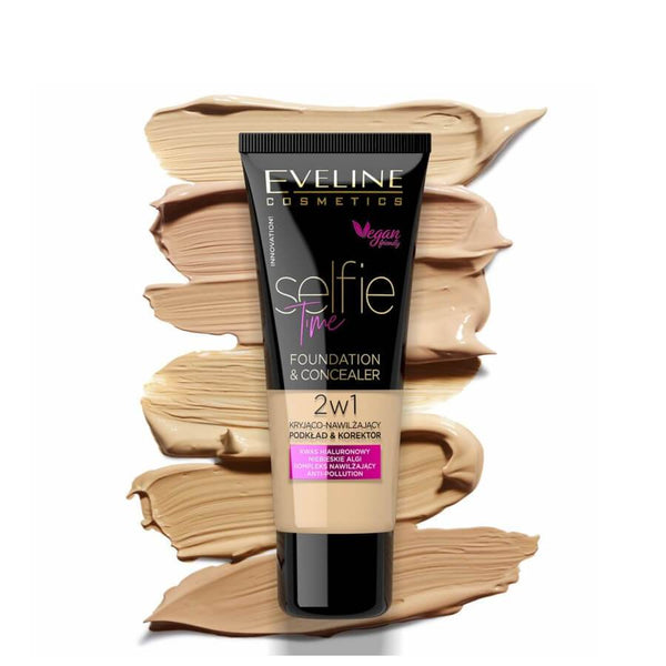 eveline cosmetics selfie time foundation and conealer colors