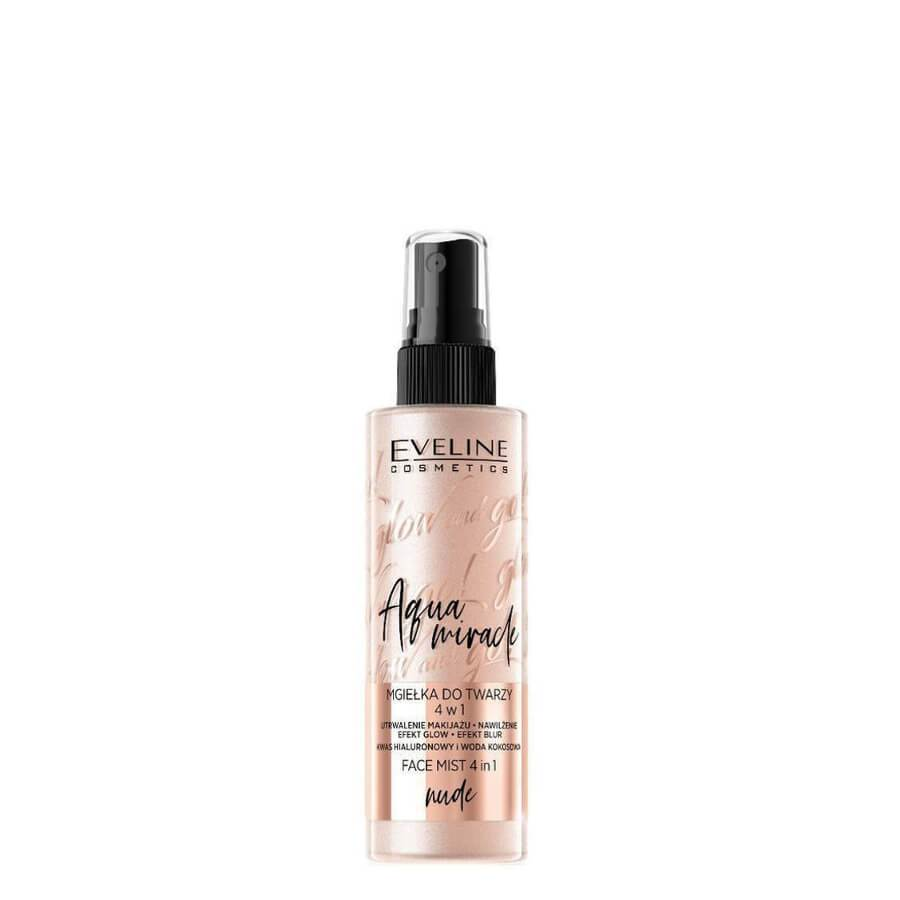 eveline cosmetics glow and go nude face mist fixing makeup