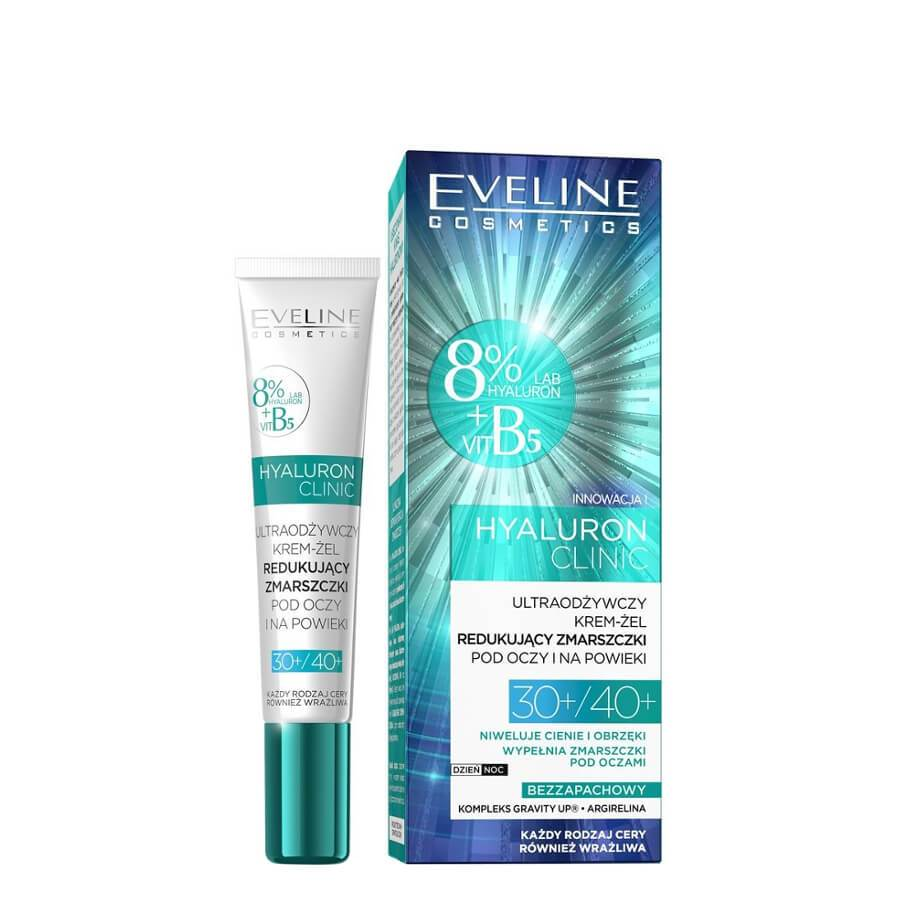 eveline cosmetics 30 40 eye cream gel anti wrikle hyaluron clinic