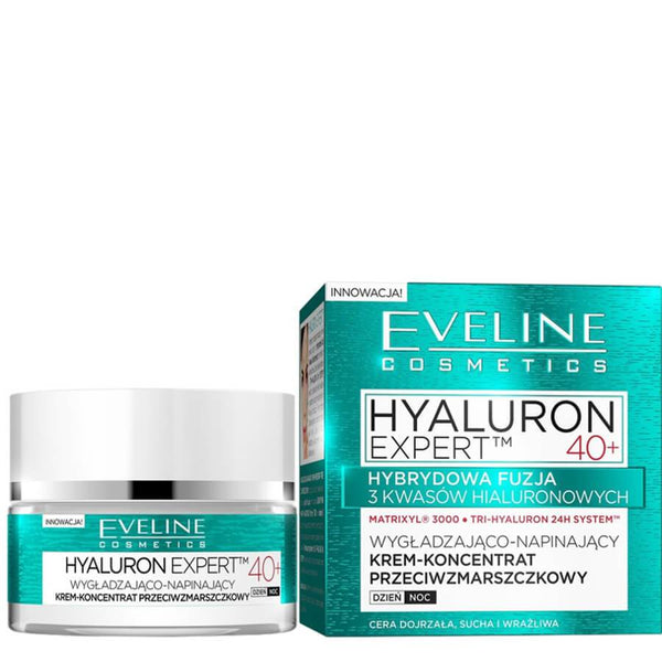 Eveline Hyaluron Expert Wrinkle Filler Face Cream  hyaluronic acid filling make up base
