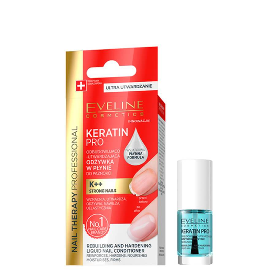 Eveline keratin pro liquid keratin water based conditioner formulated brittle weak nails
